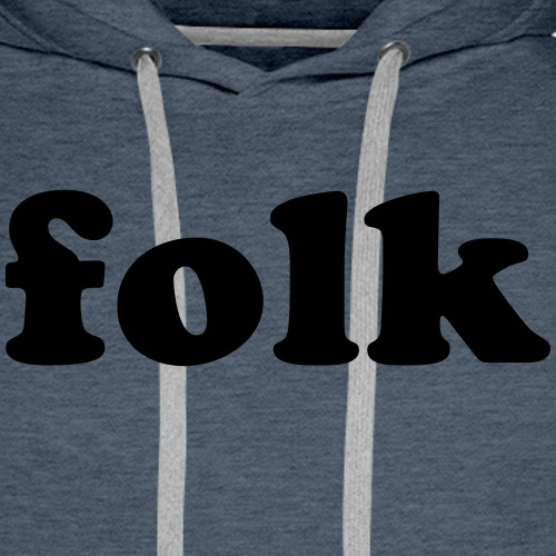 folk music - Sweat-shirt à capuche Premium pour hommes