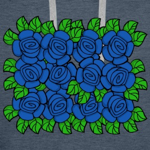 Blue Roses (Transparent) - Sweat-shirt à capuche Premium pour hommes