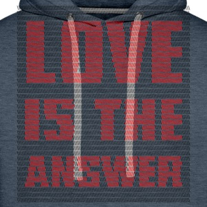 LOVE IS THE ANSWER - Felpa con cappuccio premium da uomo