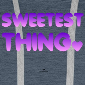 Sweetest Thing - Bluza męska Premium z kapturem