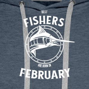 Present for fishers born in February - Men's Premium Hoodie