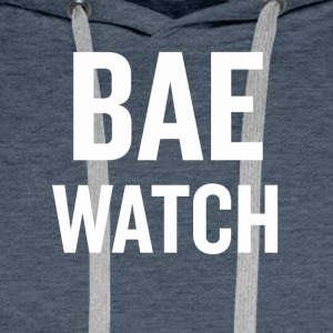 Bae Watch White - Men's Premium Hoodie