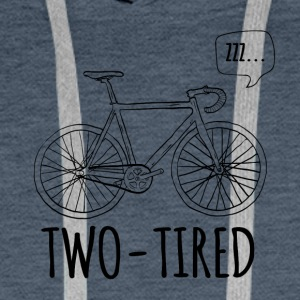 Cycling: Two-Tired - Men's Premium Hoodie