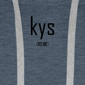 Kys transparents - Sweat-shirt à capuche Premium pour hommes