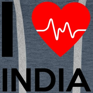 I Love India - I Love India - Men's Premium Hoodie