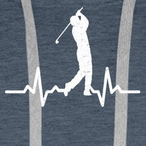 My heart beats for Golf - Men's Premium Hoodie