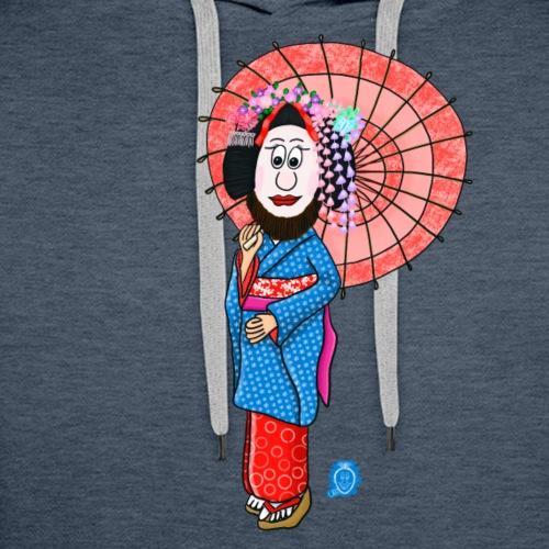 Uffi als Geisha - Männer Premium Hoodie