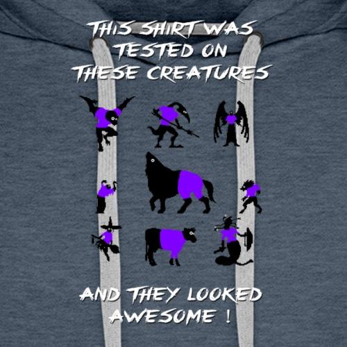 CV Tested on Creatures (Purple) - Premiumluvtröja herr