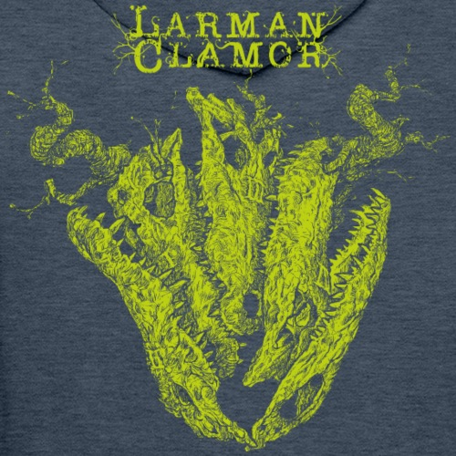 Larman Clamor Alligator Heart dark - Men's Premium Hoodie