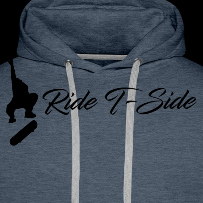 Ride T-Side - Skate Logo and Text - Black