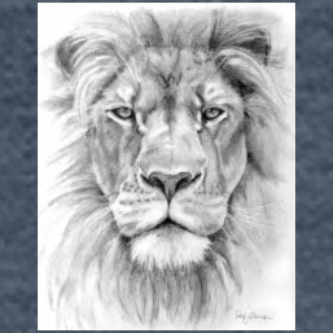 lion sketched png