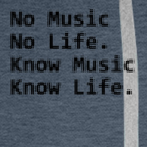 Know Music tile - Men's Premium Hoodie