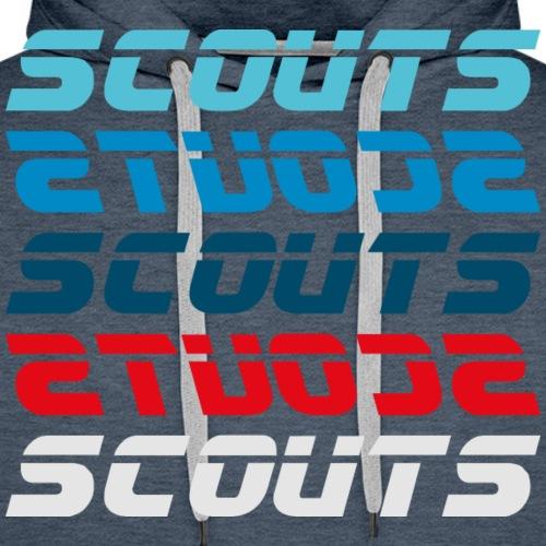 SCOUTS Retro Typo Blau Rot - Männer Premium Hoodie
