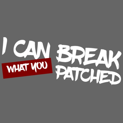 I can break what you patched - Sweat-shirt à capuche Premium pour hommes