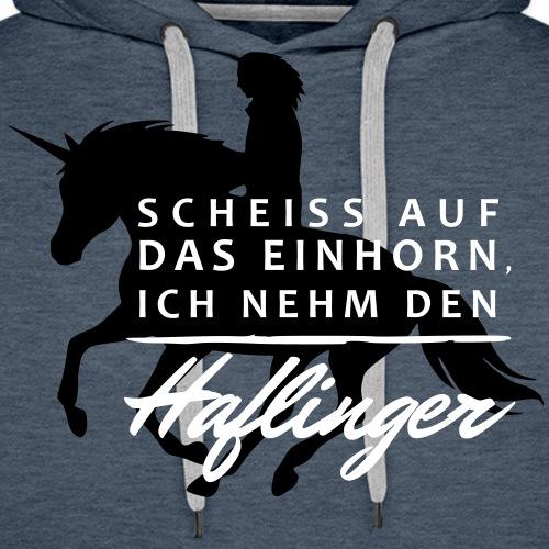 Einhorn vs. Haflinger - Männer Premium Hoodie