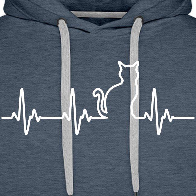 Vorschau: Ein Herz für Katzen - Männer Premium Hoodie