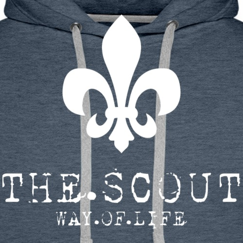THE.SCOUT.WAY.OF.LIFE Typewriter mit Lilie Weiß - Männer Premium Hoodie