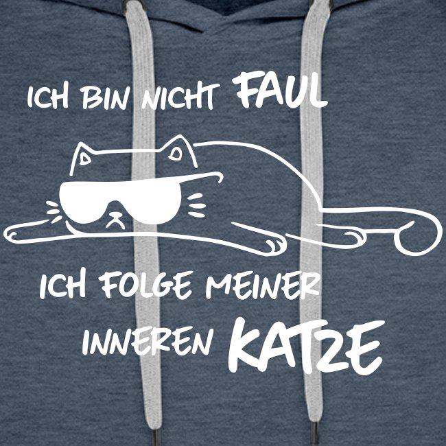 Vorschau: Faul inneren Katze - Männer Premium Hoodie