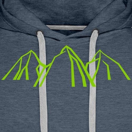 Gebirge - Männer Premium Hoodie