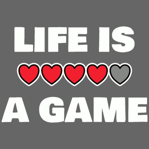 life is a game, White - Premiumluvtröja herr