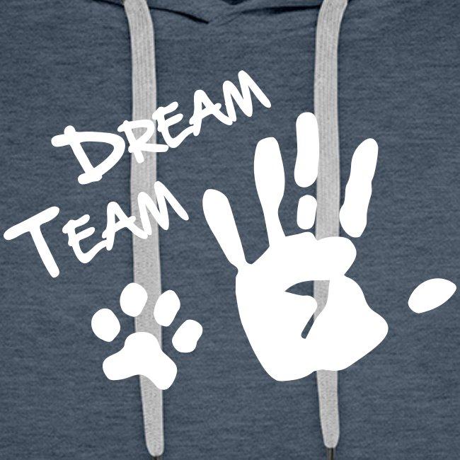 Vorschau: Dream Team Hand Hundpfote - Männer Premium Hoodie