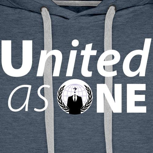 Anonymous United As One - Expect US! - Sweat-shirt à capuche Premium pour hommes