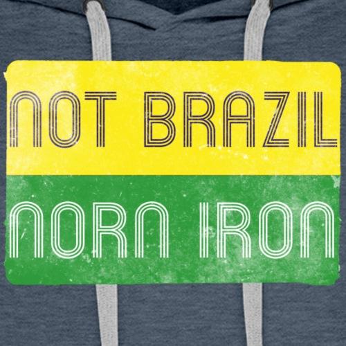 not brazil - distressed - Men's Premium Hoodie