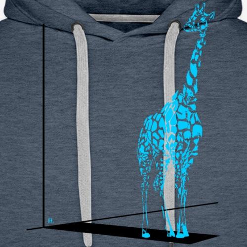 Giraffe Twisty - Mannen Premium hoodie