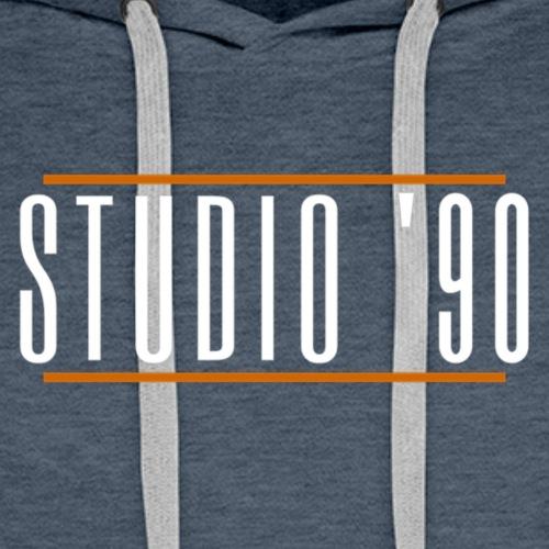 Logo wit Studio 90 - Mannen Premium hoodie