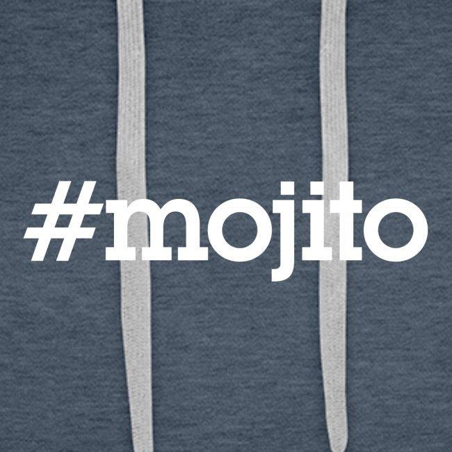 """Hashtag """"Mojito"""" - blanc"""