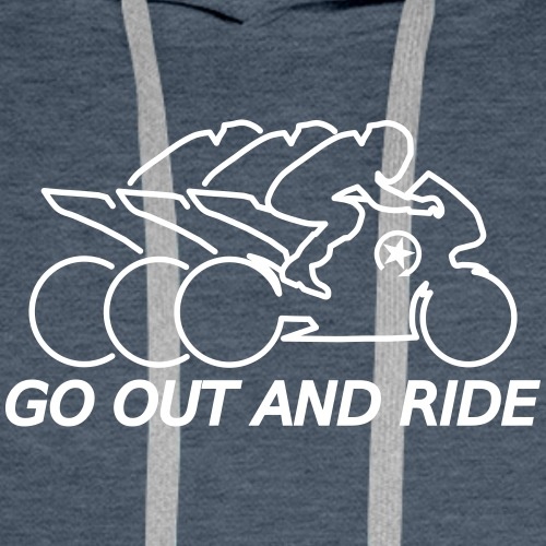 go out and ride superbike racefritzz ed. - Men's Premium Hoodie