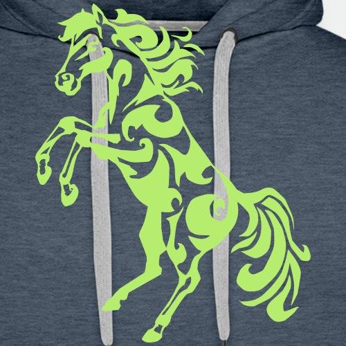 Tribal Horse Rearing - Men's Premium Hoodie