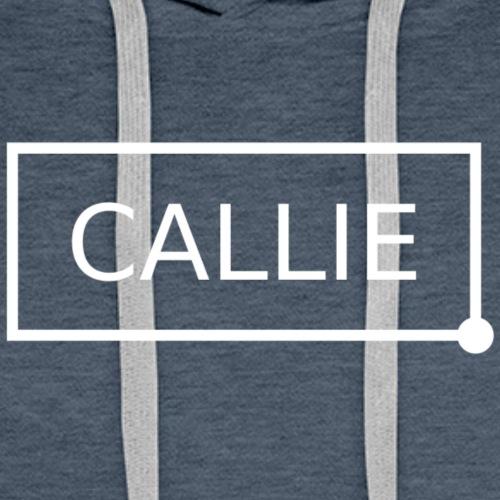 Callie. white - Mannen Premium hoodie