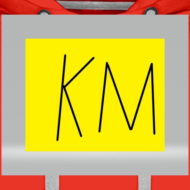 KM logo kleding