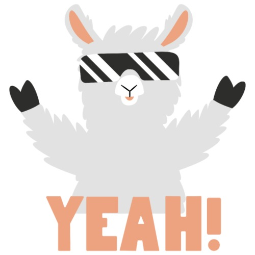 Cool Llama YEAH! - Herre Premium hættetrøje