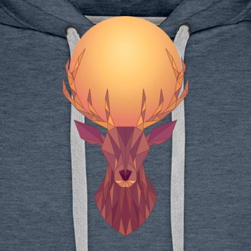 Roi Cerf Solaire - Sweat-shirt à capuche Premium pour hommes