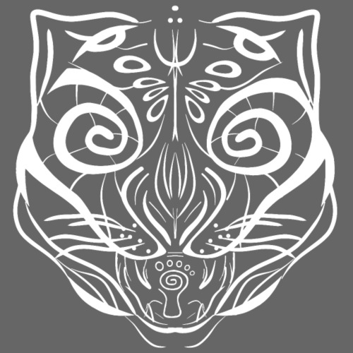 The Parvati Cat by Stringhedelic - White - Men's Premium Hoodie