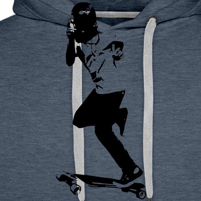 Skateboarder Longboarder in Action