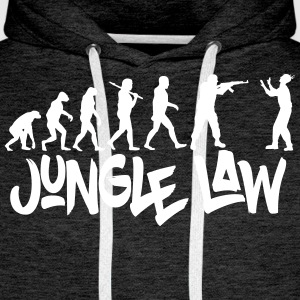 JUNGLE_LAW - Mannen Premium hoodie