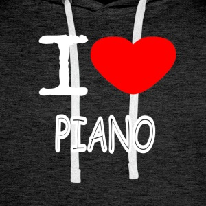 I LOVE PIANO - Premium hettegenser for menn