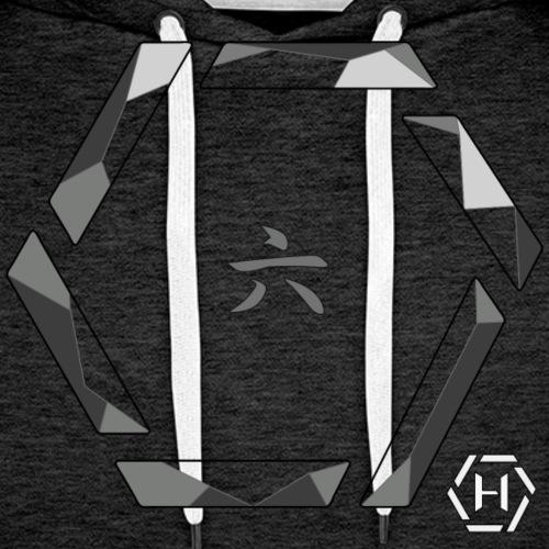 Hex crystal kanji - Felpa con cappuccio premium da uomo