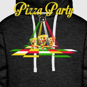Pizza Party - Bluza męska Premium z kapturem
