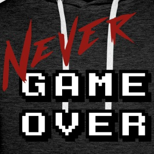 Big_Never_game_Over_white - Sudadera con capucha premium para hombre
