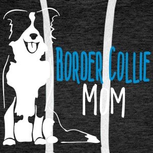 Border Collie Mum - Sweat-shirt à capuche Premium pour hommes