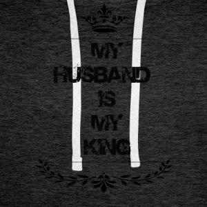 my husband is my king - Men's Premium Hoodie