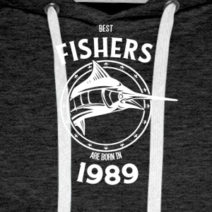 Present for fishers born in 1989 - Men's Premium Hoodie