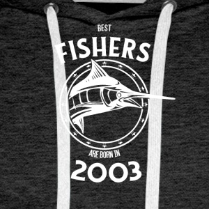 Present for fishers born in 2003 - Men's Premium Hoodie