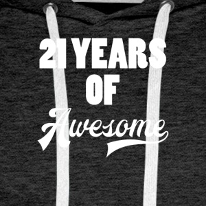 21 Birthday: 21 Years of Awesome - Men's Premium Hoodie