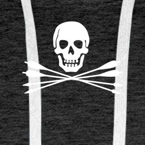 Pirates de tir à l'arc - Sweat-shirt à capuche Premium pour hommes