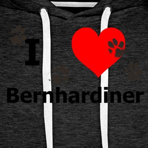 i Love Bernhardiner - Männer Premium Hoodie